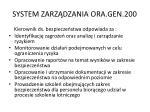 system zarz dzania ora gen 2003