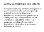 system zarz dzania ora gen 2007