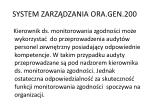system zarz dzania ora gen 2008