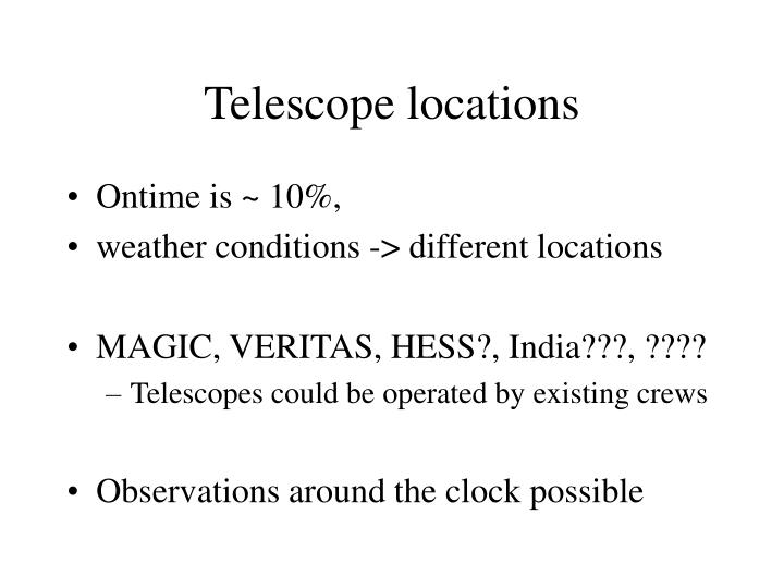 Telescope locations