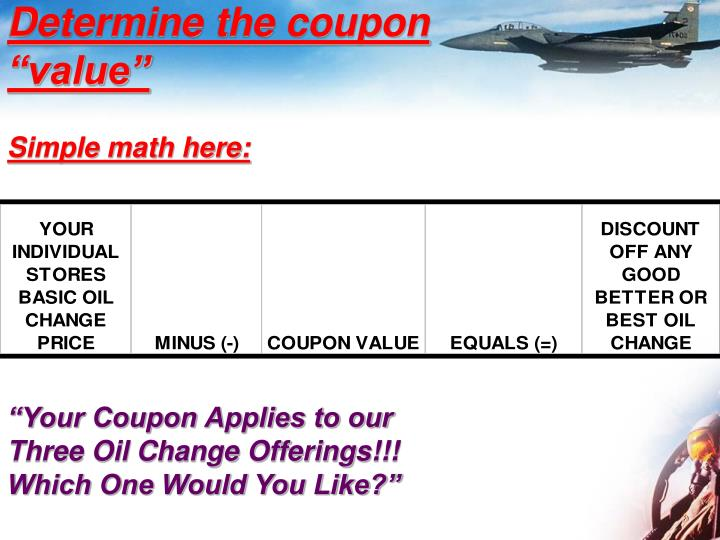 Determine the coupon