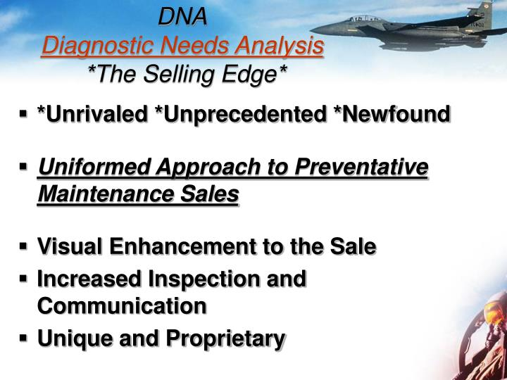 Dna diagnostic needs analysis the selling edge