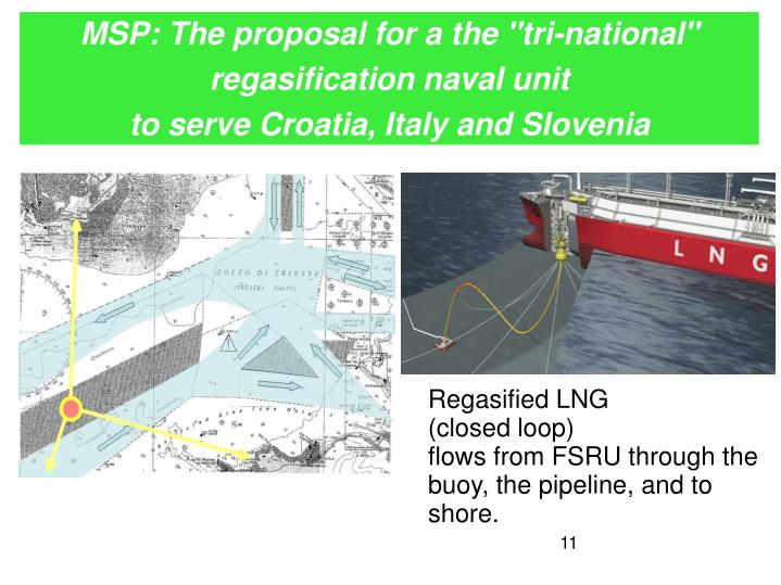 "MSP: The proposal for a the ""tri-national"" regasification naval unit"