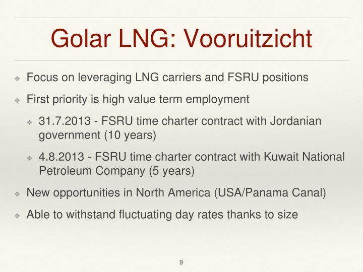 Golar LNG: Vooruitzicht