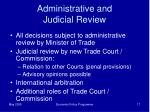 administrative and judicial review