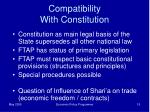 compatibility with constitution