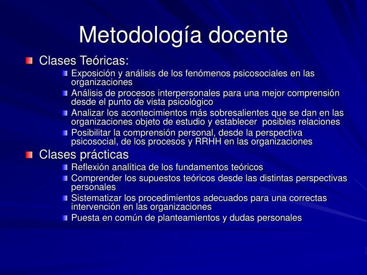 Metodología docente