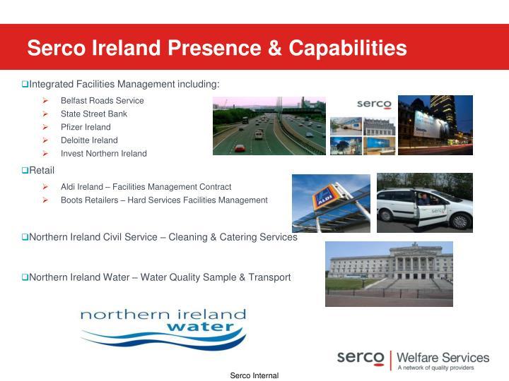 Serco Ireland Presence & Capabilities