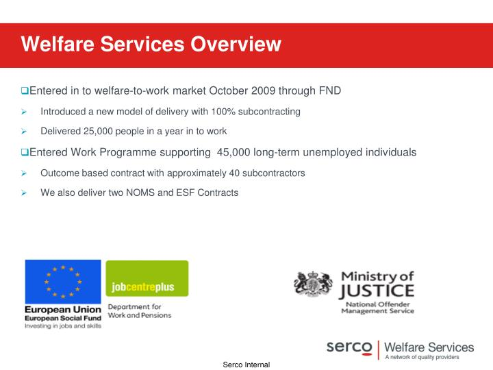 Welfare Services Overview