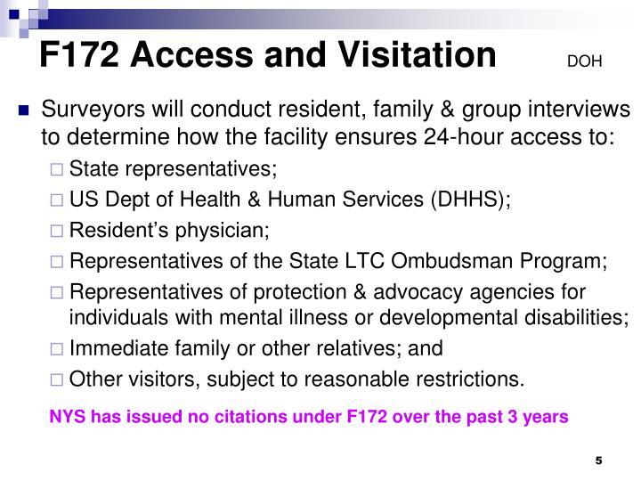 F172 Access and Visitation