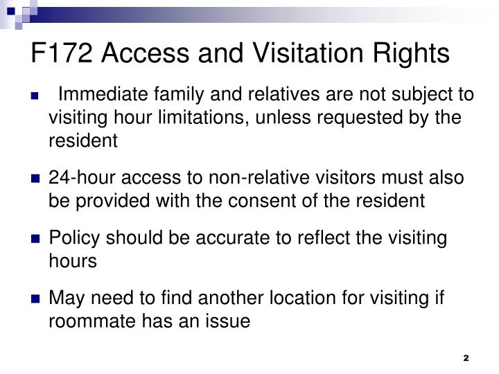 F172 Access and Visitation Rights