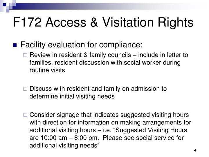 F172 Access & Visitation Rights