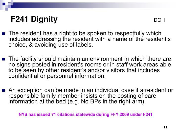 F241 Dignity
