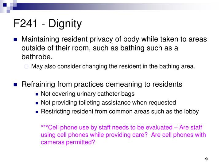 F241 - Dignity