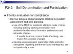 f242 self determination and participation