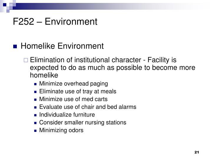 F252 – Environment