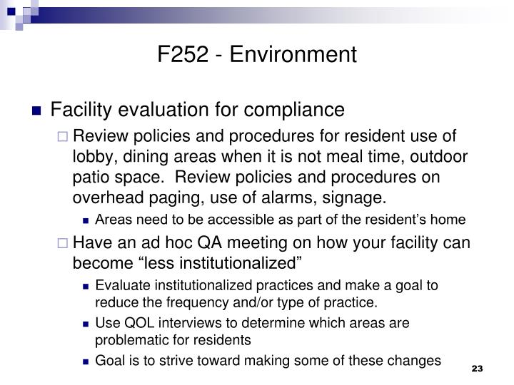 F252 - Environment