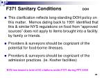 f371 sanitary conditions doh1