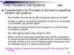 f463 resident call systems doh