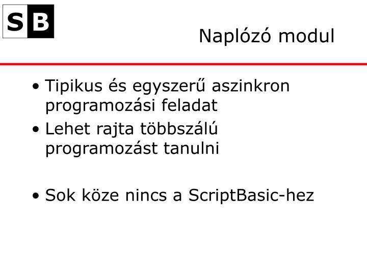 Naplózó modul