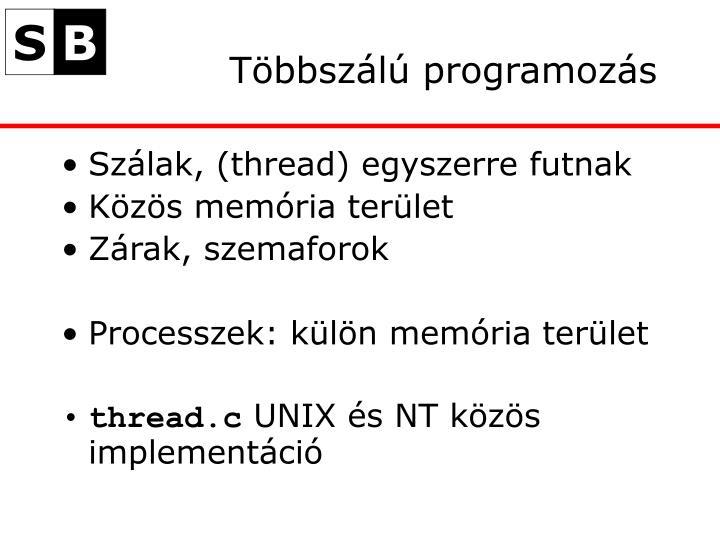 Többszálú programozás
