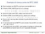 esempio di ricerca come da rfc 3263