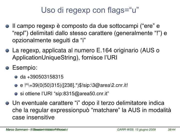 """Uso di regexp con flags=""""u"""""""