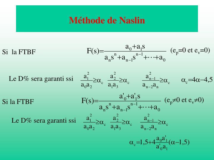 Méthode de Naslin