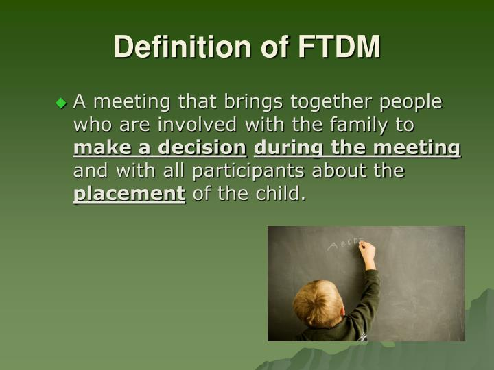 Definition of FTDM