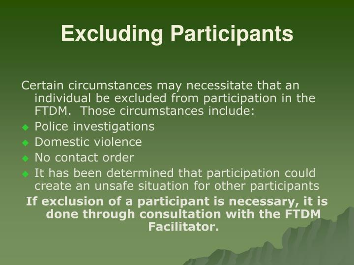 Excluding Participants
