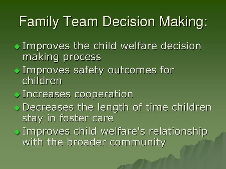 Family Team Decision Making: