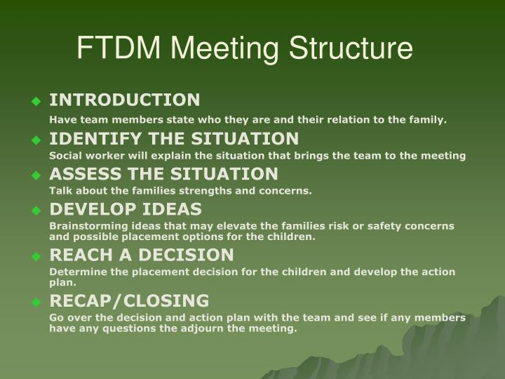 FTDM Meeting Structure