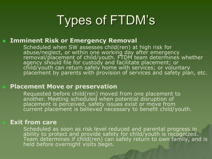 Types of FTDM's