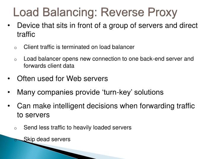 Load Balancing: Reverse Proxy