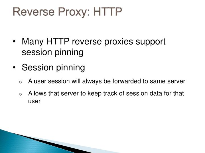 Reverse Proxy: HTTP