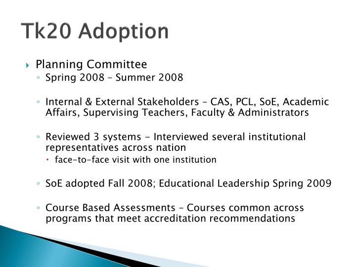 Tk20 Adoption