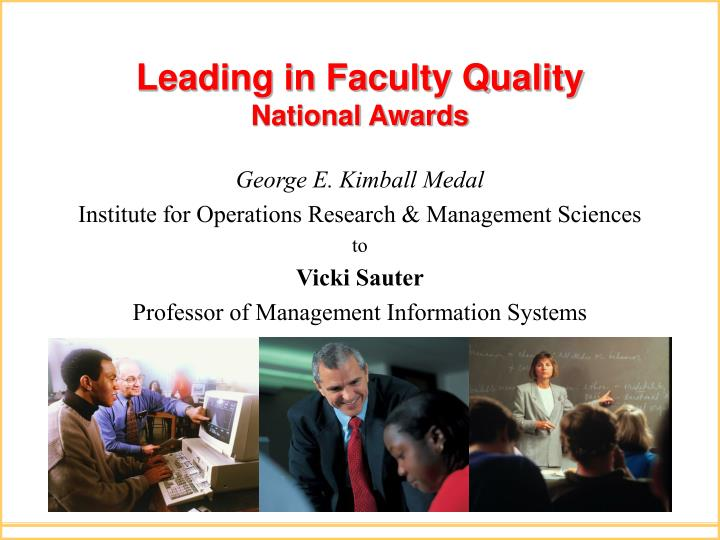 Leading in Faculty Quality