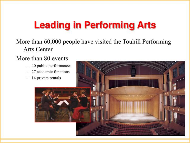 Leading in performing arts