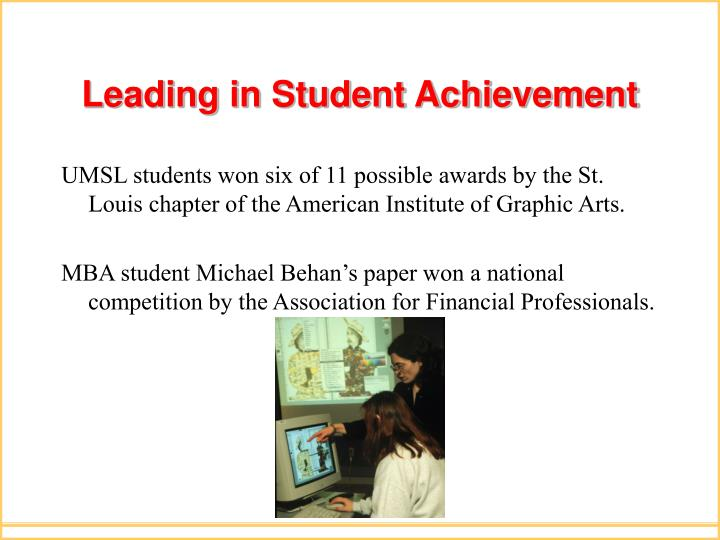 Leading in Student Achievement