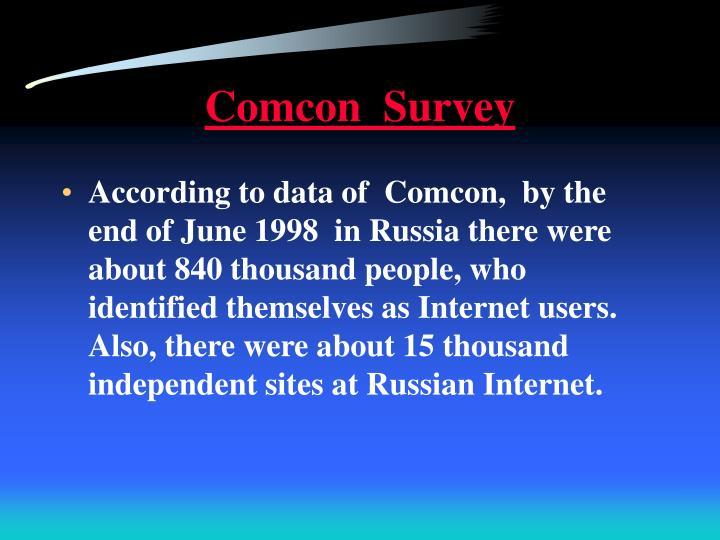 Comcon  Survey