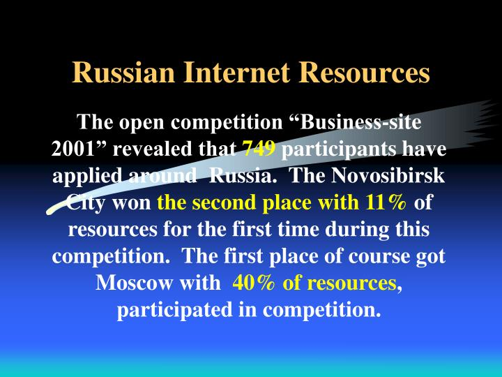 Russian Internet Resources