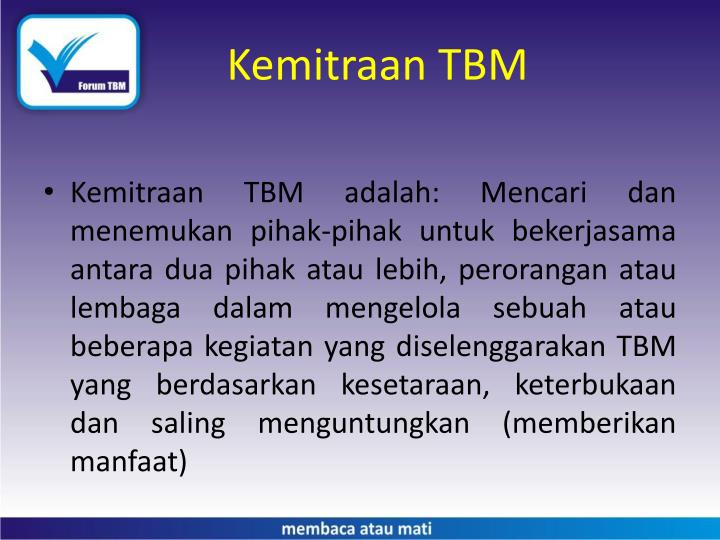Kemitraan TBM