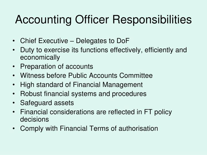 Accounting Officer Responsibilities