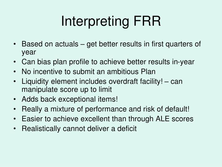 Interpreting FRR