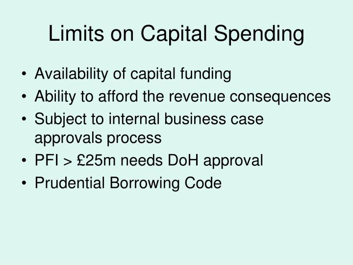 Limits on Capital Spending