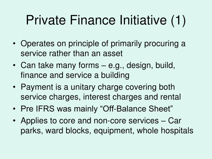 Private Finance Initiative (1)