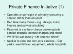 private finance initiative 1