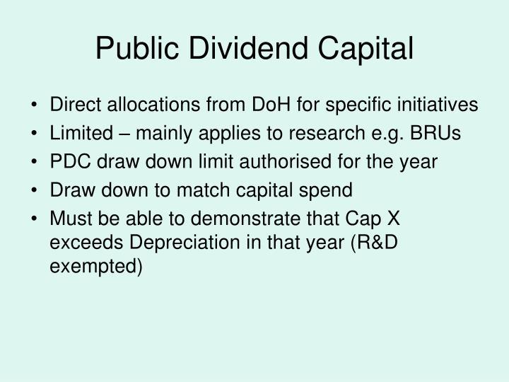 Public Dividend Capital