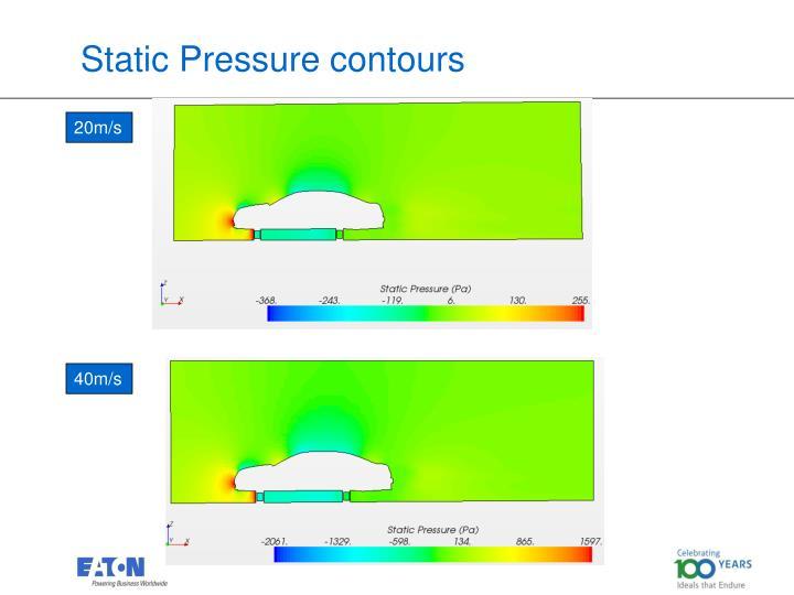 Static Pressure contours