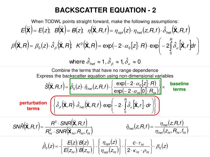 BACKSCATTER EQUATION - 2